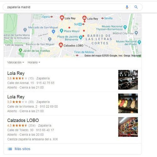 Resultado de búsqueda de Google con foto 1