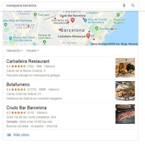 Resultado de búsqueda de Google con foto 2